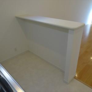キッチンカウンター ~裏側にゴミ箱置けます~